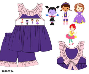 Disney Jr Mashup Smocked Set