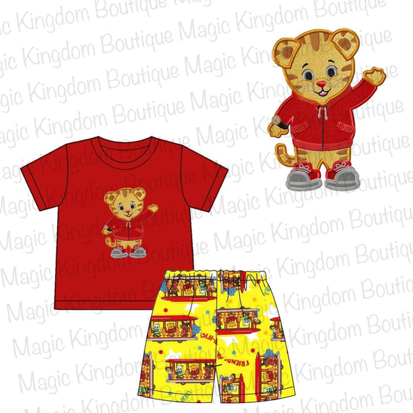 Daniel Tiger Appliqué Boy Set