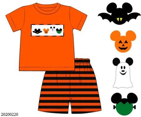 Mickey Halloween Smocked Boy Set PO10 Extras - ETA late August