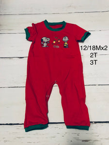 Charlie Brown Christmas Romper