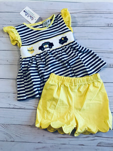 Police Smocked Girl Set