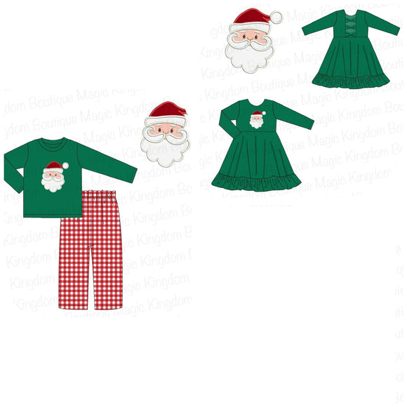 Green Santa Applique Collection