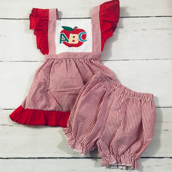 ABC Applique Bubble Shorts Set