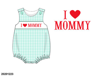 I ❤️ Mommy Smocked Bubble PO17