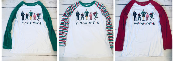 ADULT Christmas Friends Shirt