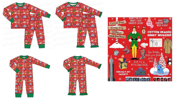 Buddy the Elf Pajamas Extras - ETA late October