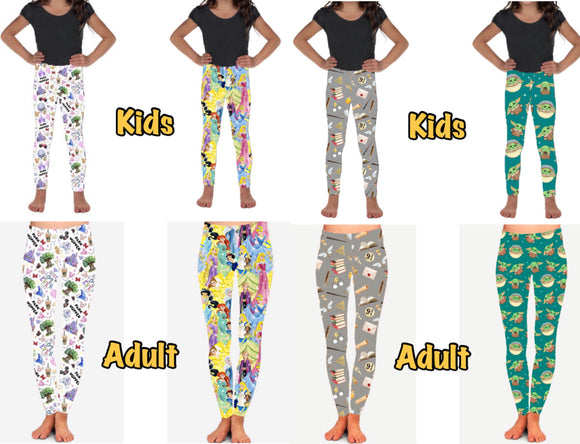 Park Hopper, Princesses, Harry Potter, and The Child Leggings - ETA early May