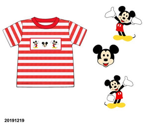 Mickey Striped Smocked Shirt