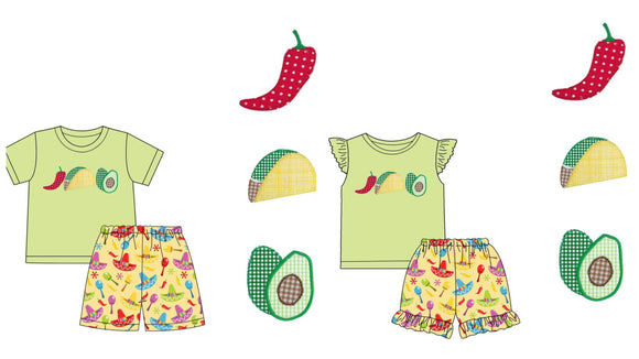 Cinco De Mayo Appliqué Sets - ETA early April