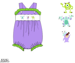 Monster INC Smocked Bubble PO11 Extras - ETA mid September