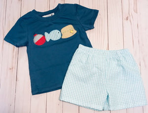 Fishing Applique Set