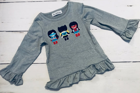Superhero Girls Appliqué Shirt