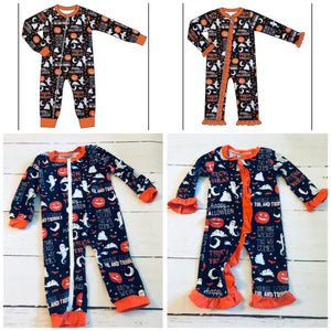 Halloween Zippered Pajamas