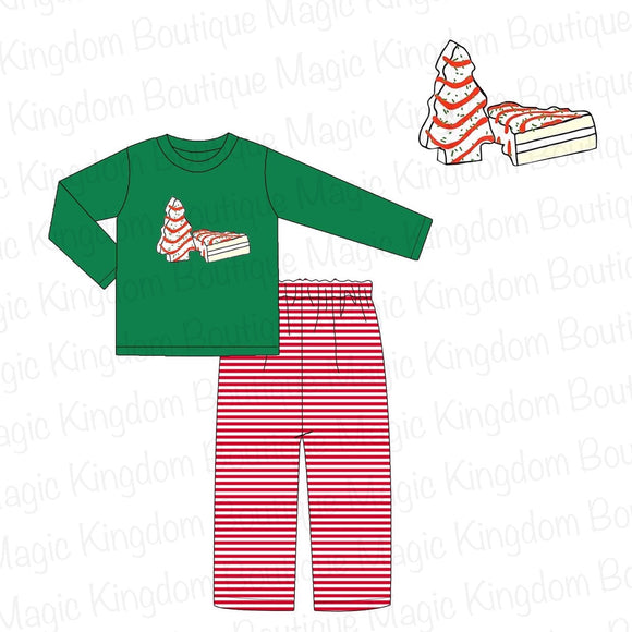 Christmas Cakes Applique Boy Set - ETA late October