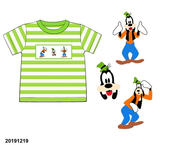 Goofy Striped Smocked Shirt