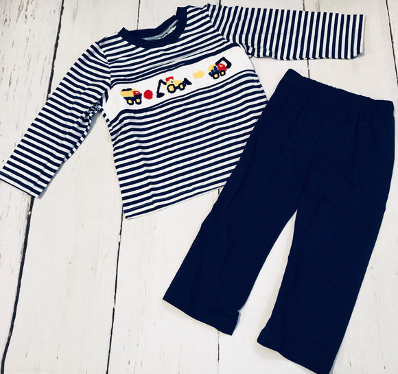 Construction Smocked Boy Set