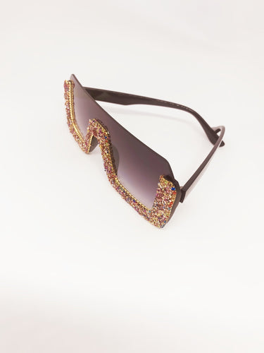 Black Crystal Sunglasses