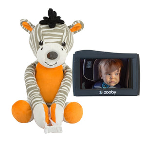 LIMITED EDITION zooby kin Car Baby Monitor- Zachary Zebra - infanttech