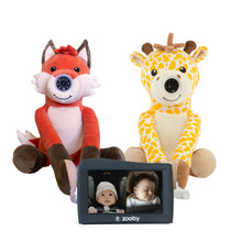 Load image into Gallery viewer, Preorder zooby kin Baby Monitor 2-1 Combo: Fox and Giraffe - infanttech