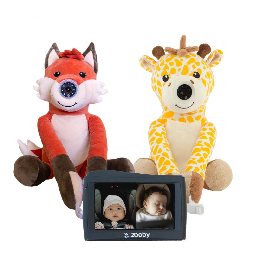 Preorder zooby kin Baby Monitor 2-1 Combo: Fox and Giraffe - infanttech