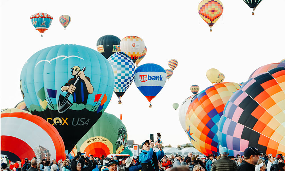 The International Balloon Fiesta takes place in Albuquerque each year.