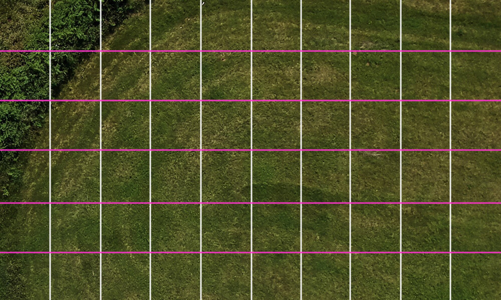 A grid pattern is a useful metal detecting search technique.