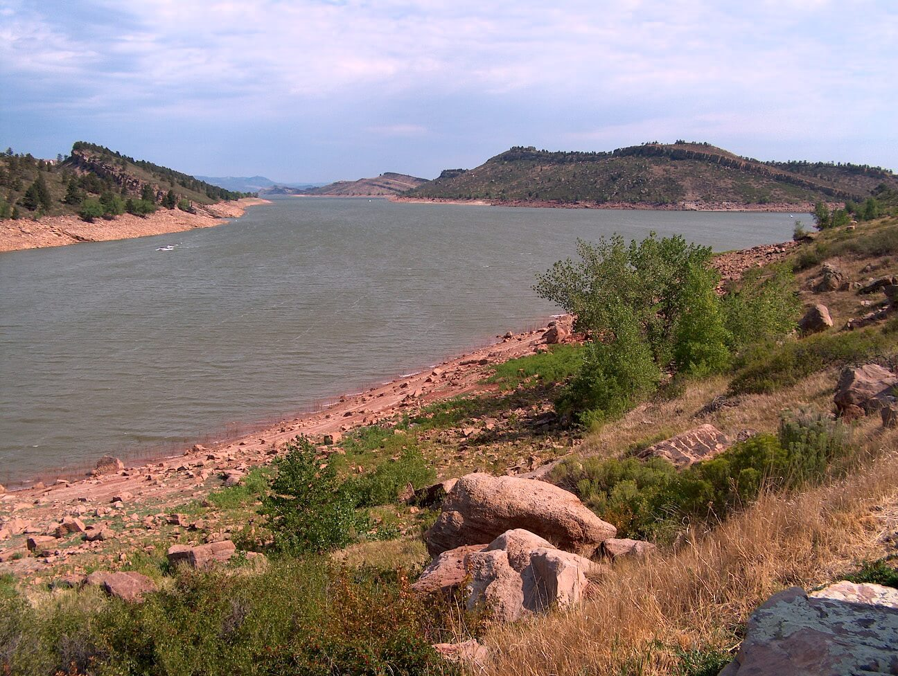 Horsetooth Reservoir near Fort Collins, CO