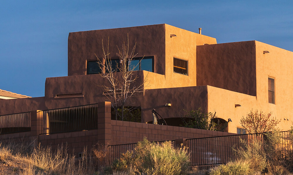 A style of architecture common in New Mexico