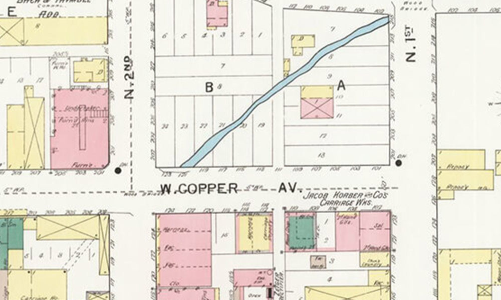 Sanborn map of Albuquerque from 1893