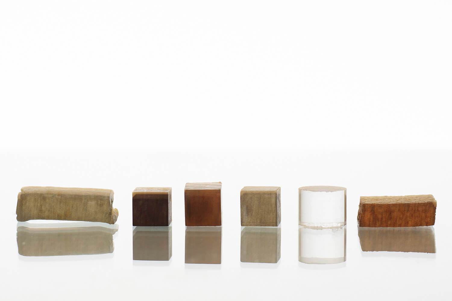 A comparison of the densities of different cubed minerals.
