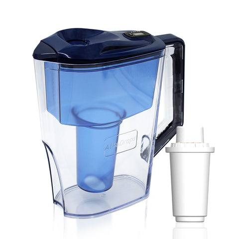 KnowUbest™ Space Saver Alkaline Water Filter Pitcher,10 Cup - DonaldELIZABETH