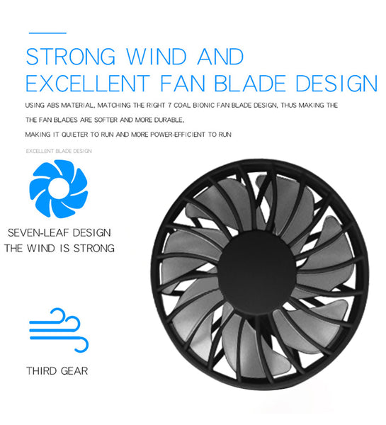 Hands-Free! Portable Neck Fan - 3 Level Air Flow with LED Lights - DonaldELIZABETH