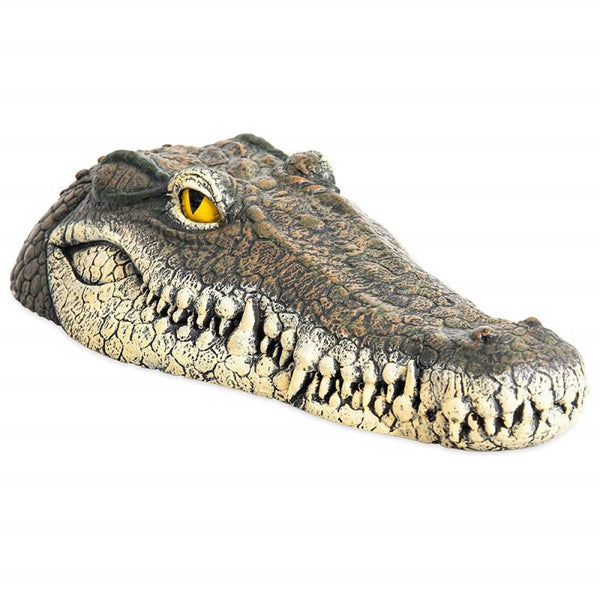 Floating Alligator Head, Pool Accessories Float Alligator for Koi Pond Decoration and Protection to Scare Heron Away - DonaldELIZABETH