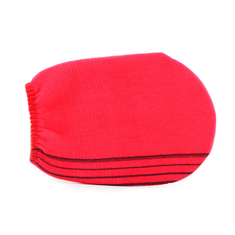 I love my spa Scrub Glove Red