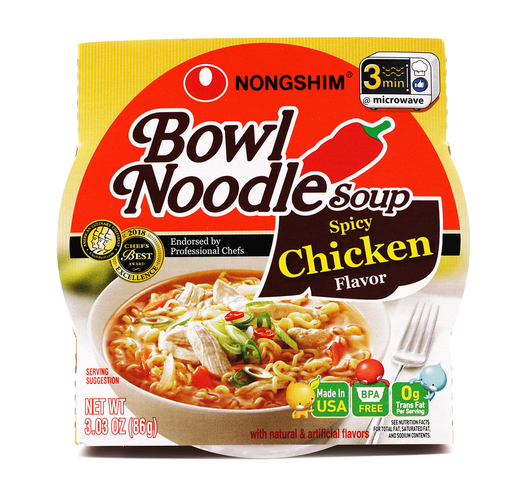 Nongshim Bowl Noodle Soup Spicy Chicken Flavor 3.03oz (86g)