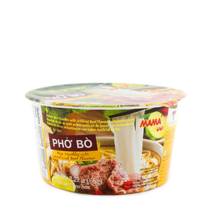 MAMA Pho Bo Rice Noodles with Beef Flavor 2.29oz (65g)