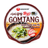 Nongshim Big bowl Gomtang Instant Noodle Soup Mix with creamy beef bone broth 4.02oz (114g)