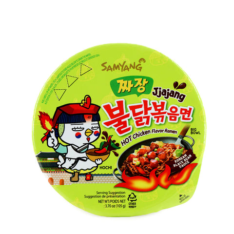 SAMYANG Jjajang Hot chicken Flavor Ramen Big Bowl 3.7oz (105g)