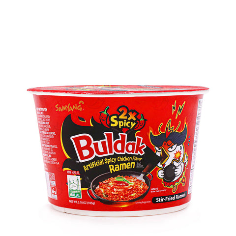 SAMYANG 2x Spicy Hot Chicken Flavor Ramen Big Bowl 105g (3.70oz)