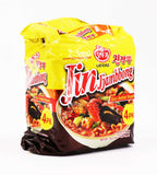 OTTOGI Jin Jjambbong Spicy Seafood Noodle Family Pack, 4.59oz (130g) x 4Pks, 520g