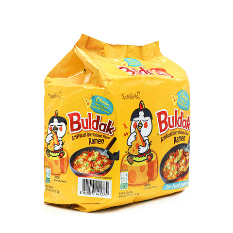 SAMYANG Cheese Buldak Hot Chicken Flavor Ramen Family Pack, 4.94oz (140g) x 5Pks, 700g