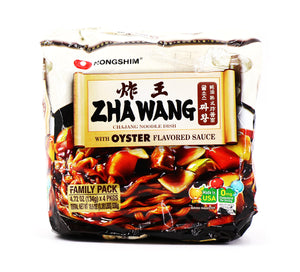 Nongshim Zhawang with Oyster Flavored Sauce Family Pack, 4.72oz (134g) x 4 Pks, 536g
