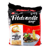 Nongshim Potato Noodle Soup Family Pack, 3.52oz (100g) x 4Pks, 400g