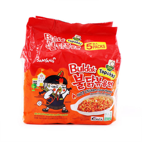 Samyang Topokki Buldak Hot Chicken Flavor Ramen 140g, 5Packs