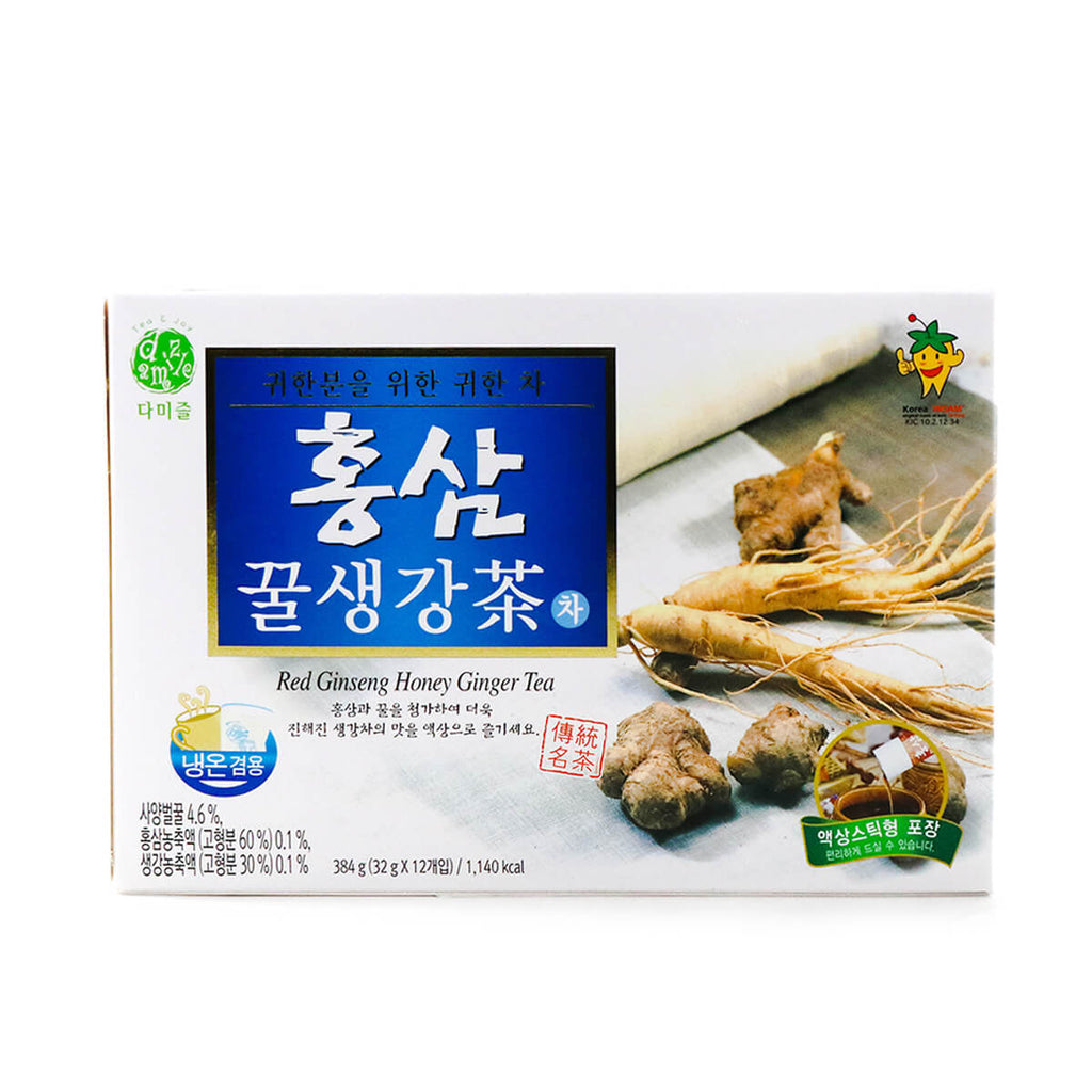 Damizle Red Ginseng Honey Ginger Tea 12 sticks, 13.54oz (384g)