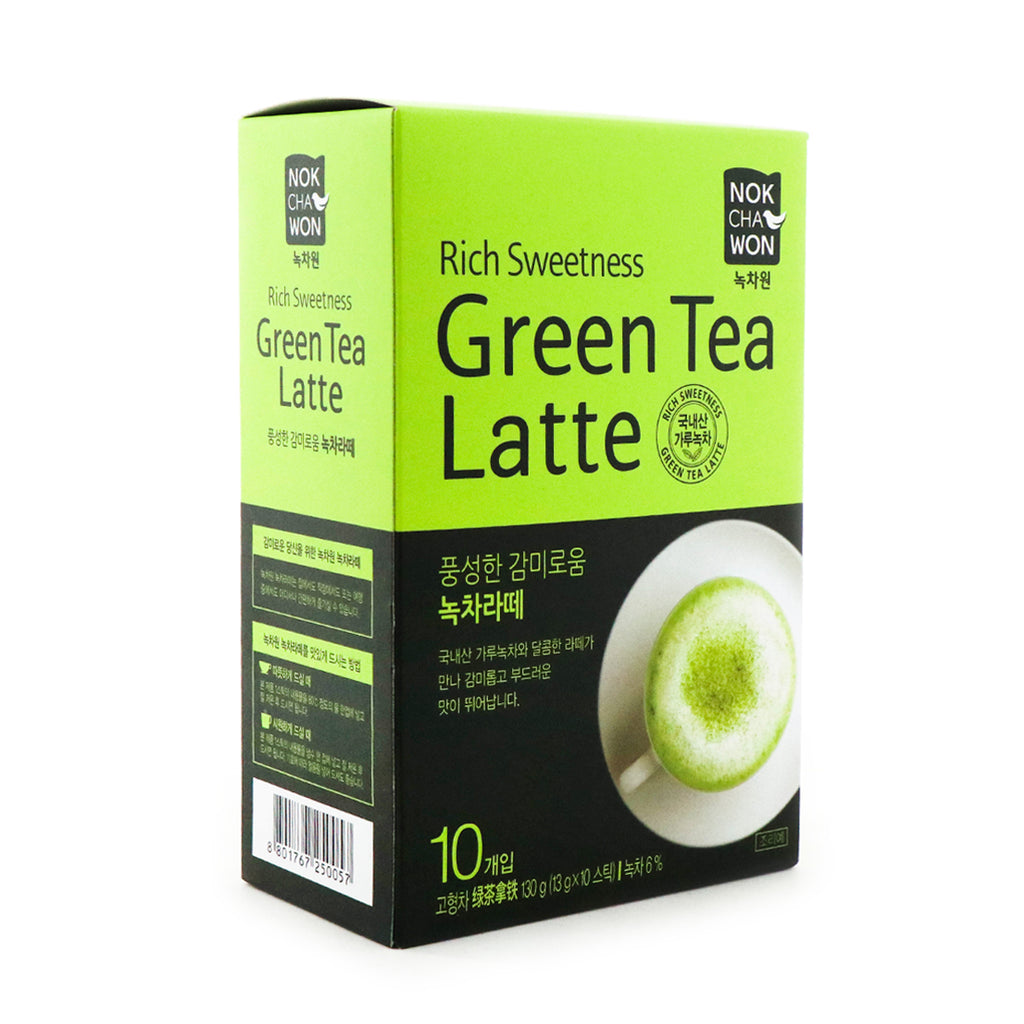 NOKCHAWON Rich Sweetness Green Tea Latte, 13g x 10 Sticks, 130g