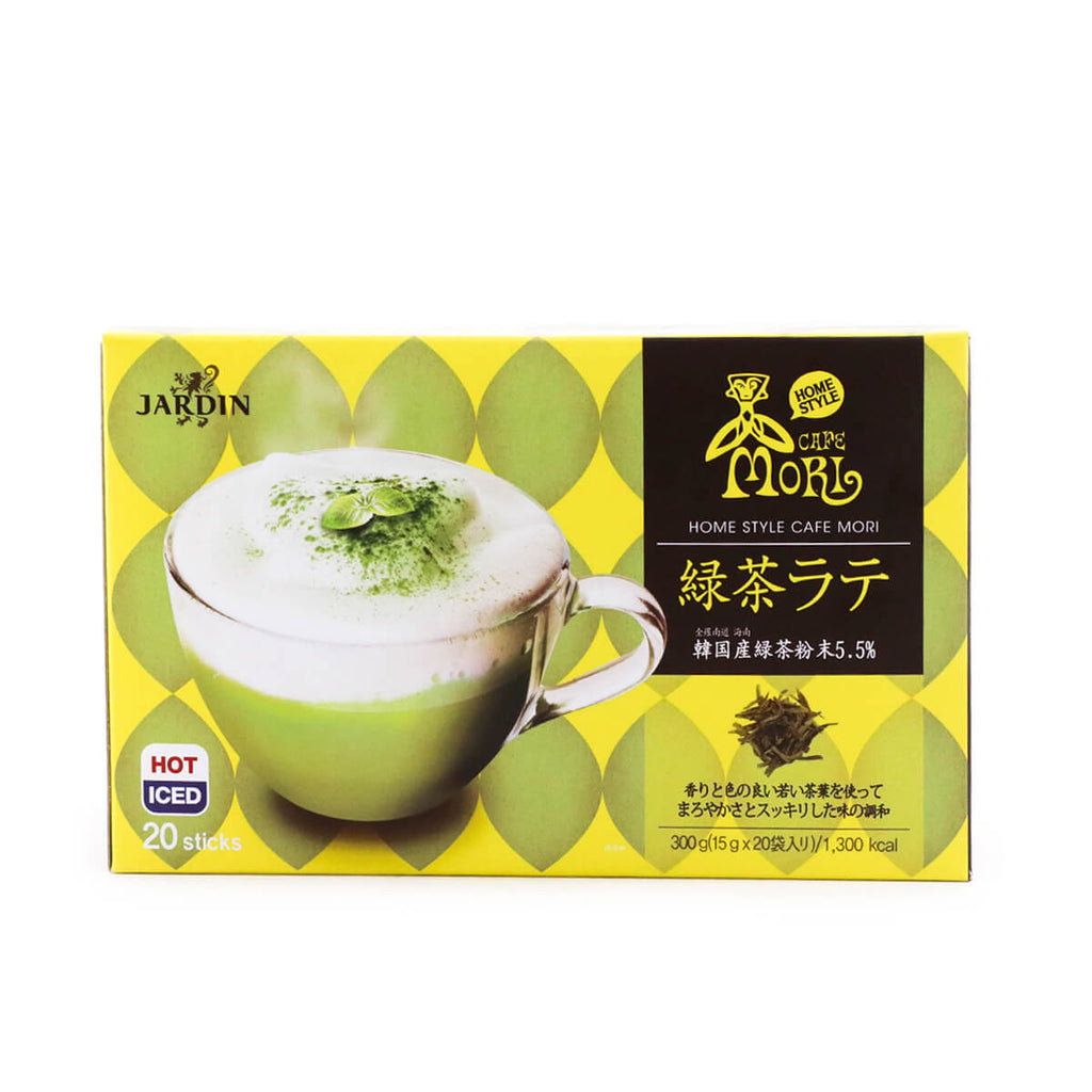 Jardin Home Style Café Mori Green Tea Latte Powder, 15g x 20 Sticks, 300g