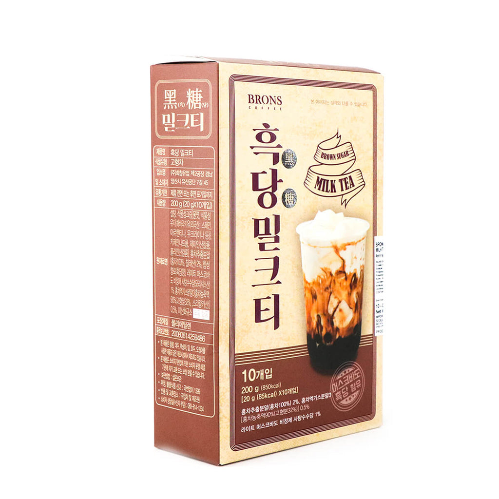 BRONS COFFEE Brown Sugar Flavor Milktea Powder Mix 20g x 10Pks, 200g