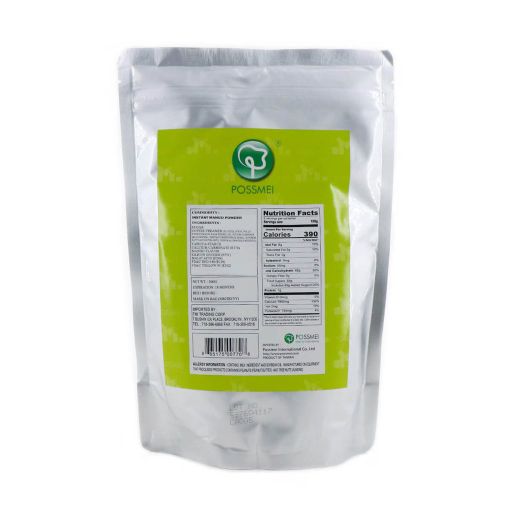 POSSMEI Bubble tea mix Mango Instant in powder 500g