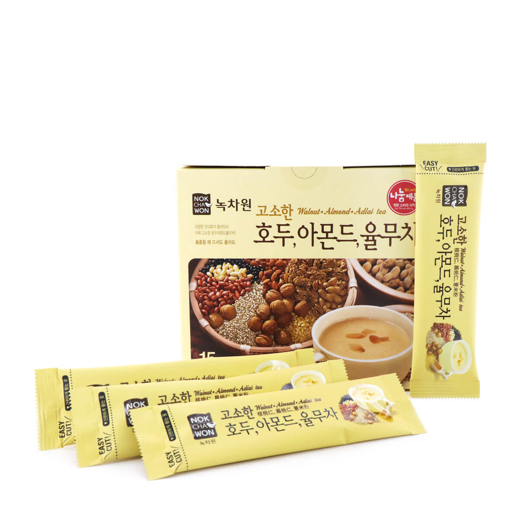 NOKCHAWON Walnut, Almond Adlai Tea 18g x 15 sticks, 270g